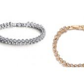 """Bracelets or et argent """"99 cristaux"""""""